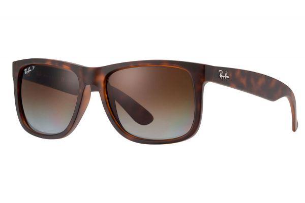 Large image of Ray-Ban Justin Havana Unisex Sunglasses - RB4165 865/T5 55-16