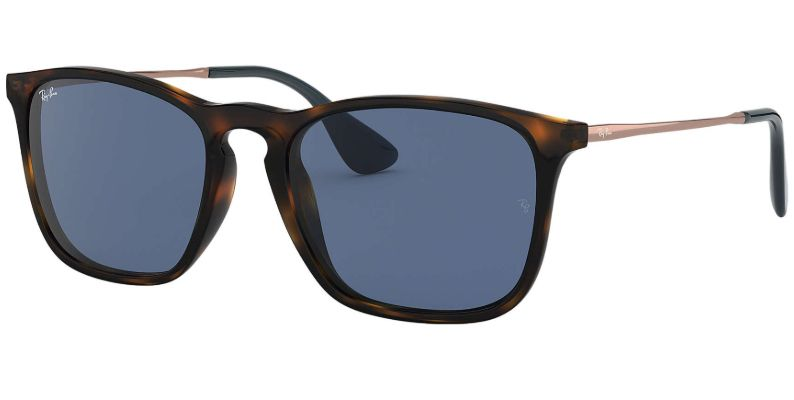 Ray Ban Chris Blue Classic Brown Mens Sunglasses