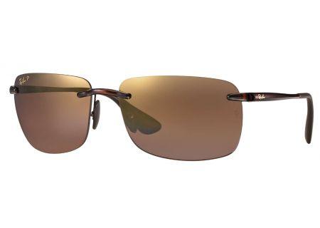 Ray-Ban Polarized Brown Purple Mirror Chromance Mens Sunglasses - RB4255 604/6B 60