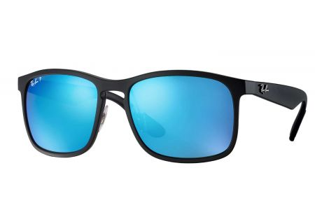 Ray-Ban Square Polarized Blue Mirror Chromance Sunglasses - RB4264 601SA1 58