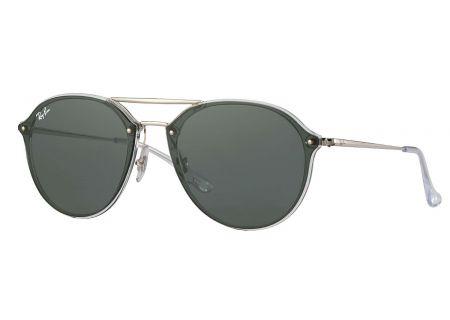 Ray-Ban Blaze Double Bridge Green Classic Unisex Sunglasses - RB4292N 632571 62-14