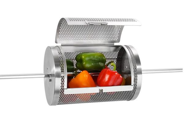 Large image of Lynx Sedona Stainless Steel Rotisserie Basket - RB8