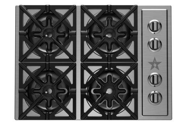 """Large image of BlueStar 30"""" Stainless Steel Gas Cooktop - RBCT304BSSV2"""