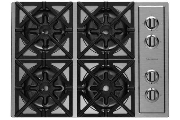 """Large image of BlueStar 30"""" Stainless Steel Liquid Propane Gas Cooktop - RBCT304BSSV2LP"""