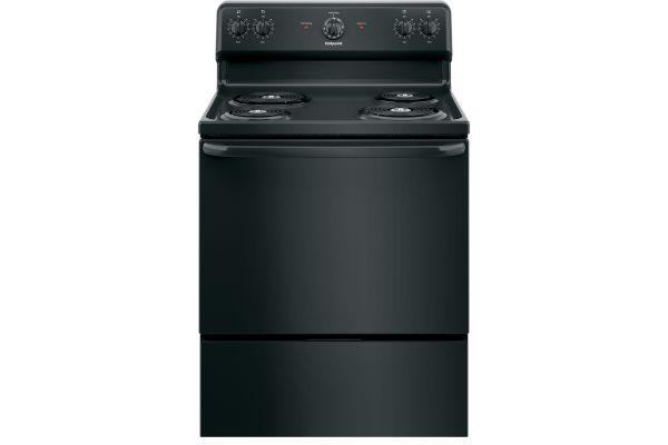 "Large image of GE Hotpoint 30"" Black Freestanding Electric Range - RBS160DMBB"