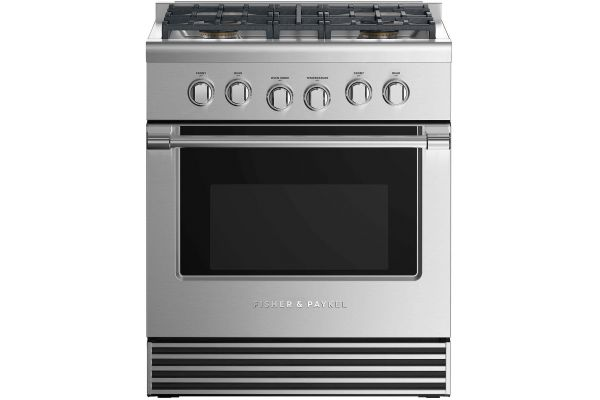 """Fisher & Paykel 30"""" Professional Style Stainless Steel Liquid Propane Dual Fuel Range - RDV2-304-L_N"""