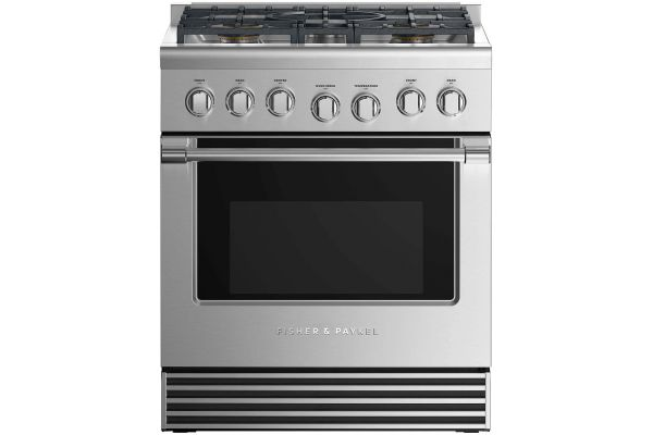 """Fisher & Paykel 30"""" Professional Style Stainless Steel Liquid Propane Dual Fuel Range - RDV2-305-L_N"""