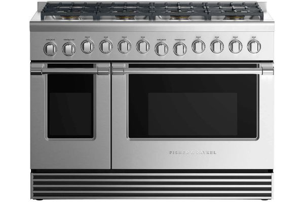 "Fisher & Paykel 48"" Professional Series Stainless Steel Liquid Propane Dual Fuel Range - RDV2-488-L_N"