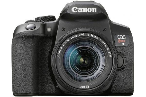 Large image of Canon EOS Rebel T8i DSLR Camera With EF-S 18-55mm f/4-5.6 IS STM Kit - 3924C002