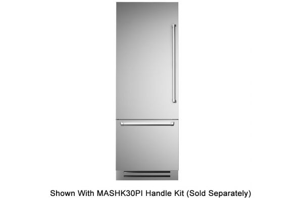 "Bertazzoni 30"" Stainless Steel Built-In Bottom Mount Refrigerator - REF30PIXL"