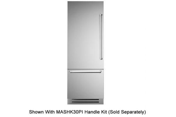 "Large image of Bertazzoni 30"" Stainless Steel Left-Hinge Built-In Bottom Mount Refrigerator - REF30PIXL"