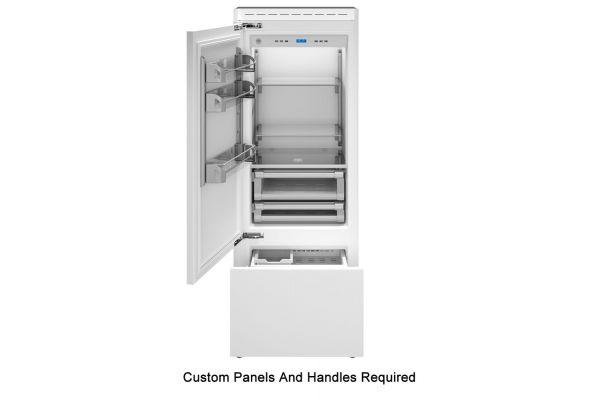 "Large image of Bertazzoni 30"" Panel Ready Left-Hinge Built-In Bottom Mount Refrigerator - REF30PRL"