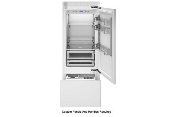 "Bertazzoni 30"" Stainless Steel Built-In Bottom Mount Panel Ready Refrigerator - REF30PRR"