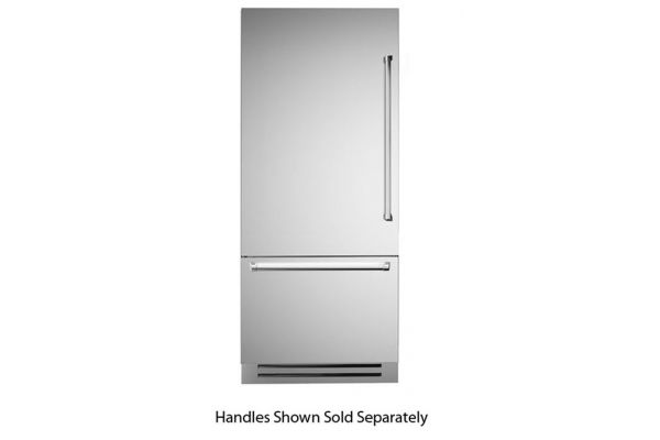 "Large image of Bertazzoni 36"" Stainless Steel Left-Hinge Built-In Bottom Mount Refrigerator - REF36PIXL"