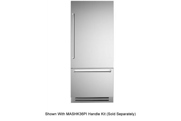 "Bertazzoni 36"" Stainless Steel Built-In Bottom Mount Refrigerator - REF36PIXR"