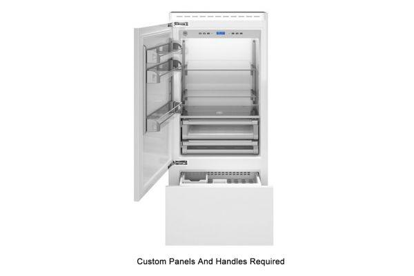 "Large image of Bertazzoni 36"" Panel Ready Left-Hinge Built-In Bottom Mount Refrigerator - REF36PRL"