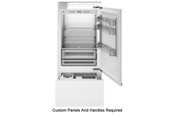 "Large image of Bertazzoni 36"" Panel Ready Right-Hinge Built-In Bottom Mount Refrigerator - REF36PRR"