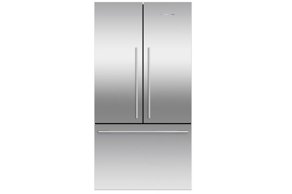 Large image of Fisher & Paykel 20.1 Cu. Ft. Stainless Steel French Door Refrigerator Freezer - RF201ADJSX5