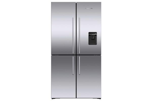 Large image of Fisher & Paykel 18.9 Cu. Ft. Stainless Steel Freestanding Quad Door Refrigerator Freezer - RF203QDUVX1