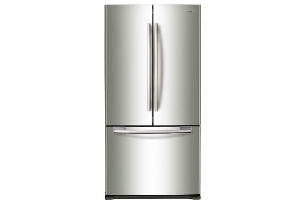 Samsung 20 Cu. Ft. Stainless Steel French Door Bottom Freezer Refrigerator - RF20HFENBSR