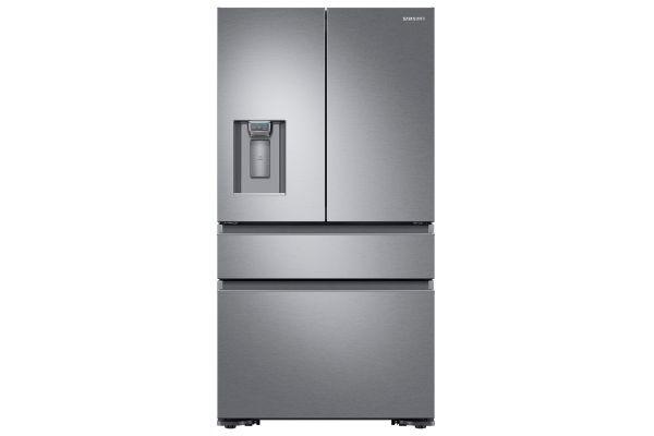Large image of Samsung 23 Cu. Ft. Fingerprint Resistant Stainless Steel Counter-Depth 4-Door French Door Refrigerator - RF23M8070SR/AA