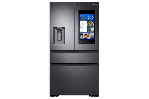 Samsung Fingerprint Resistant Black Stainless Counter-Depth 4-Door Refrigerator With Family Hub - RF23M8570SG