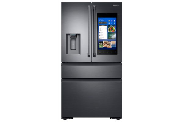 Samsung Fingerprint Resistant Black Stainless Counter-Depth 4-Door Refrigerator With Family Hub - RF23M8590SG
