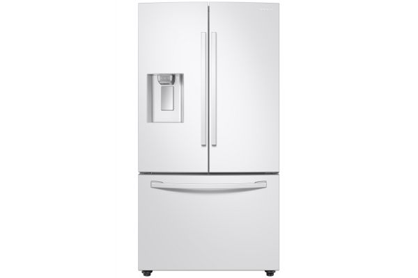 Large image of Samsung 23 Cu. Ft. White French Door Counter Depth Refrigerator With CoolSelect Pantry - RF23R6201WW/AA