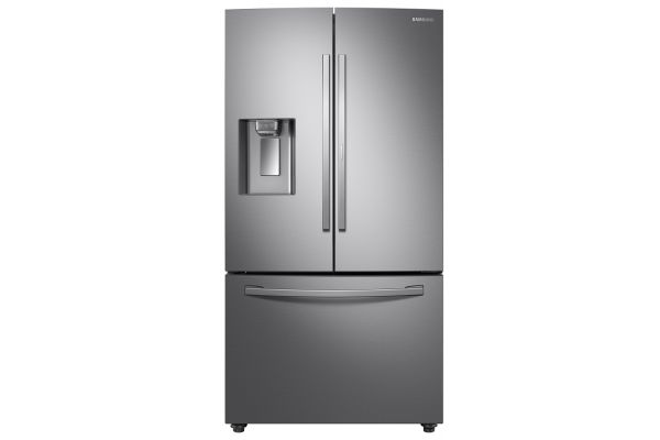Samsung 23 Cu. Ft. Fingerprint Resistant Stainless Steel French Door Counter Depth Refrigerator With Food Showcase - RF23R6301SR