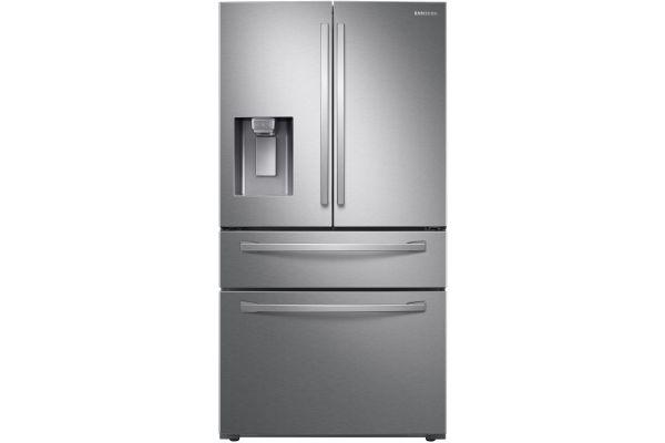Samsung Fingerprint Resistant Stainless Steel Counter Depth 4-Door French Door Refrigerator - RF24R7201SR