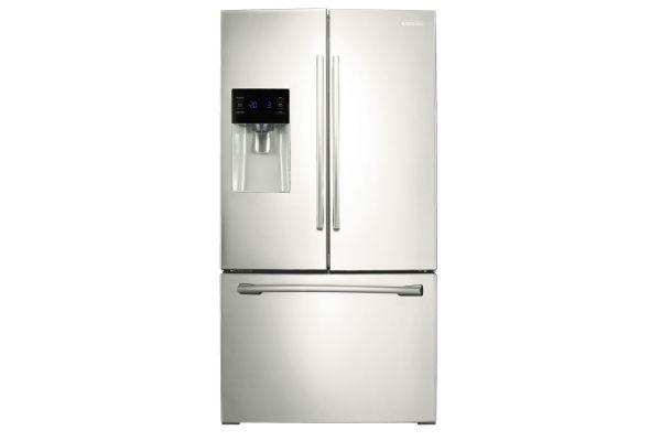 Samsung 25 Cu. Ft. White Bottom Freezer Refrigerator - RF263BEAEWW