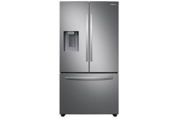 Large image of Samsung 27 Cu. Ft. Fingerprint Resistant Stainless Steel French Door Refrigerator With External Water & Ice Dispenser - RF27T5201SR/AA