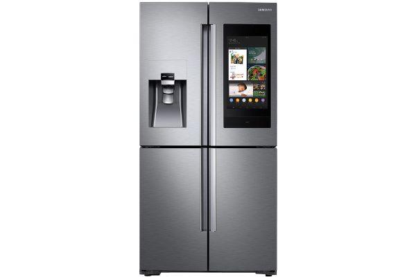 Large image of Samsung 28 Cu. Ft. Fingerprint Resistant Stainless Steel 4-Door Flex Refrigerator With Family Hub - RF28N9780SR/AA