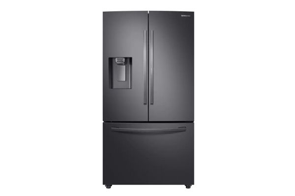 Samsung Fingerprint Resistant Black Stainless Steel 3-Door French Door Refrigerator - RF28R6301SG