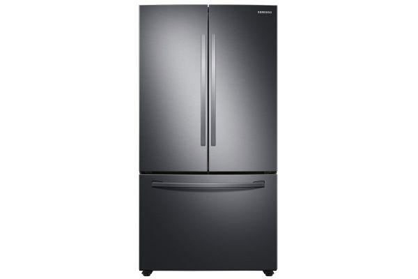 Large image of Samsung 28 Cu. Ft. Fingerprint Resistant Black Stainless Steel Large Capacity 3-Door French Door Refrigerator - RF28T5001SG/AA
