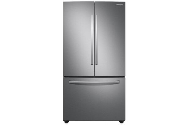 Large image of Samsung 28 Cu. Ft. Fingerprint Resistant Stainless Steel 3-Door French Door Refrigerator With AutoFill Water Pitcher - RF28T5021SR/AA