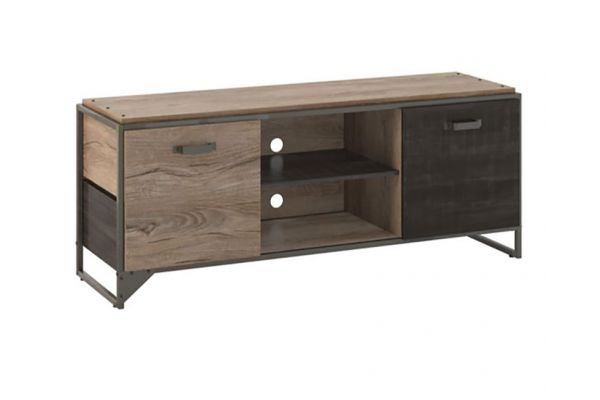 Large image of Bush Furniture Refinery 60W Rustic Gray TV Stand For 65 Inch TV - RFV160RG-03
