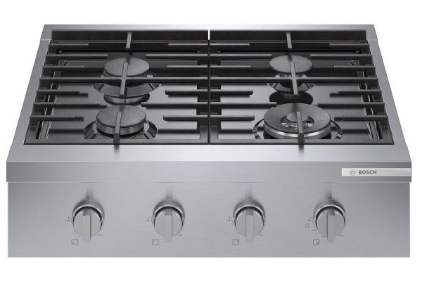 "Bosch 30"" Stainless Steel Industrial-Style Gas Rangetop - RGM8058UC"
