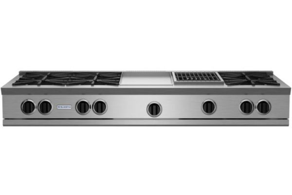 """Large image of BlueStar 60"""" RNB Rangetop With 12"""" Griddle & Charbroiler - RGTNB606GCBV2"""