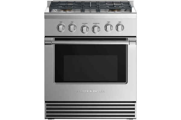 "Fisher & Paykel 30"" Professional Style Stainless Steel Gas Range - RGV2-304-N_N"