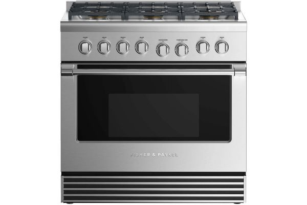 """Fisher & Paykel 36"""" Professional Style Stainless Steel Liquid Propane Gas Range - RGV2-366-L_N"""