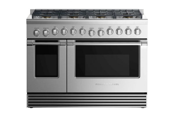 """Large image of Fisher & Paykel 48"""" Professional Style Stainless Steel Freestanding Gas Range - RGV2488NN"""