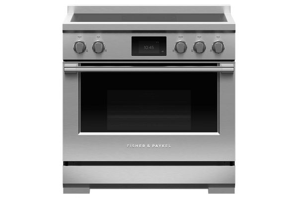"""Large image of Fisher & Paykel Professional Series 9 36"""" Stainless Steel Induction Range, 5 Zones With SmartZone, Self-Cleaning - RIV3-365"""