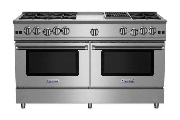 """Large image of BlueStar 60"""" RNB Series Stainless Steel Freestanding Gas Range With 12"""" Griddle And Charbroiler - RNB606GCBV2"""