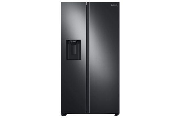 Large image of Samsung 22 Cu. Ft. Fingerprint Resistant Black Stainless Steel Counter Depth Side-By-Side Refrigerator - RS22T5201SG/AA