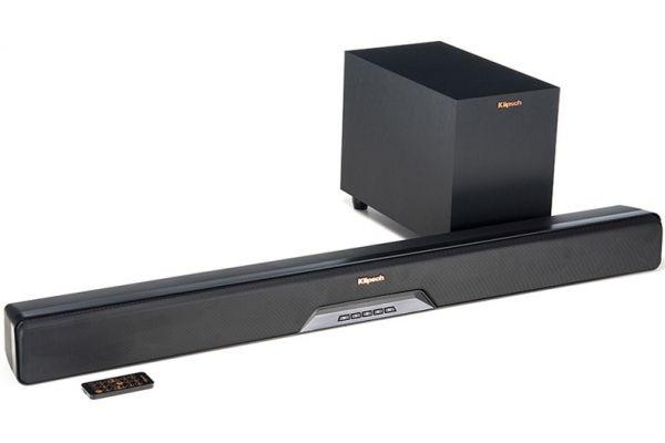 Klipsch Black Sound Bar With Wireless Subwoofer - RSB6