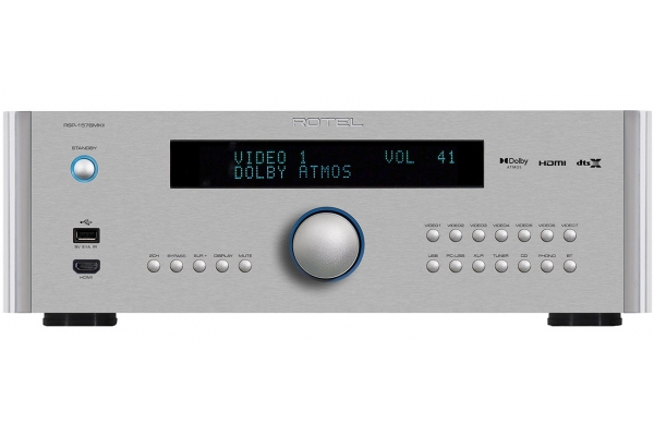 Large image of Rotel Silver Surround Sound Processor - ROT1050006