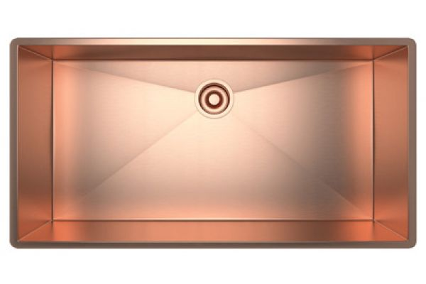 Large image of Rohl Stainless Copper Single Bowl Kitchen Sink - RSS3618SC
