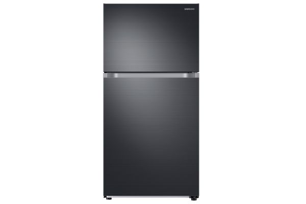 Large image of Samsung 21 Cu. Ft. Fingerprint Resistant Black Stainless Steel Top Freezer Refrigerator With FlexZone - RT21M6213SG/AA