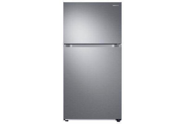 Large image of Samsung 21 Cu. Ft. Fingerprint Resistant Stainless Steel Top Freezer Refrigerator With FlexZone - RT21M6213SR/AA